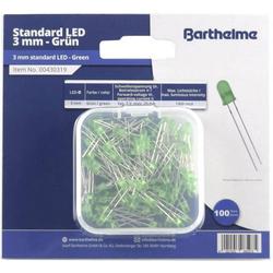 Barthelme LED-Sortiment Grün Rund 3mm 100 mcd 30° 20mA 2V