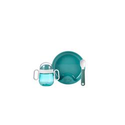 Mepal Kindergeschirr-Set Geschirr Set Set Babygeschirr Mepal Mio 3-teilig (3-tlg), Kunststoff blau