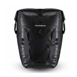 ROCKBROS Fahrradtasche Fahrradtasche Pack- Gepäckträgertasche 100% Wasserdicht 20/27Liter, schwarz, Abnehmbar