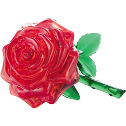 3D Crystal Puzzle Rose rot 44 Teile