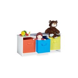 relaxdays Sitzbank Kindersitzbank mit Stauraum ALBUS