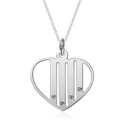 Herzkette aus 925er Silber, gravierbar