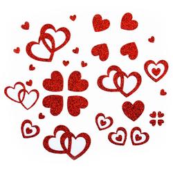 Herz Sticker Set Glitter Glitzernd - rot