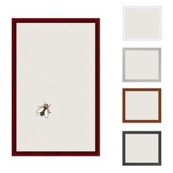 Insektenschutz Spannrahmen, Fliegengitter für Fenster, fertig auf Mass, als Bausatz, in mahagoni