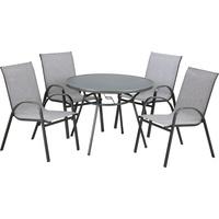 TrendLine Set Rio 1 Tisch + 4 Stühle