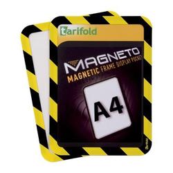 Selbstklebende tasche a4, 2 stk., nicht permanent, gelb-schwarz