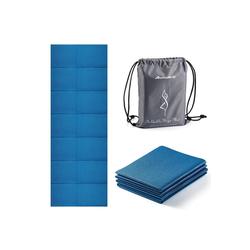 Avoalre Yogamatte Avoalre Yogamatte rutschfest, 173 x 61CM faltbare Yogamatte mit Tasche, Tragbare 5MM Pilatesmatte / Gymnastikmatte / Trainingsmatte / reise Yogamatte ideale für Frau Kinder und Männer blau