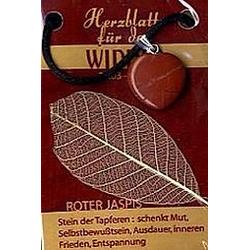 Jaspis Rot Herzblatt, Glücksstein