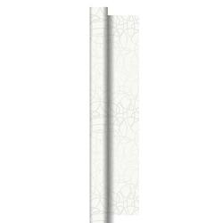 Duni Dunisilk+ Tischdecke Rolle 40x0,84m Circuits weiß - 1x1 Stück