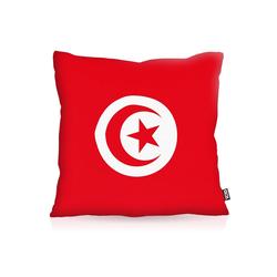 Kissenbezug, VOID, Tunesien Flagge Fahne Fan Fussball EM WM Tunis 60 cm x 60 cm