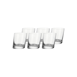 LEONARDO Glas PISA Trinkglas Whiskybecher 230 ml 6er Set (6-tlg), Glas
