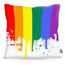 Kissenbezug, VOID, Regenbogenflagge Outdoor pride csd gay friendly schwul lesbisch lgbt 60 cm x 60 cm