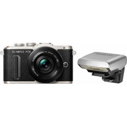 Olympus E-PL8 Systemkamera (14-42mm EZ Pancake, 16,1 MP, WLAN (Wi-Fi), Makroaufnahme, HDR-Aufnahme, 3D, Gesichtserkennung) schwarz