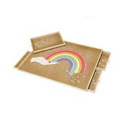 BALOU Puzzleunterlage Puzzlebrett mit 4 Schubladen für 1000 - 1500 Teile