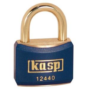 KASP Vorhängeschloss, Messing, blau ummantelt, 40 mm, gleichschließend K12440BLUA1 gleichschließend