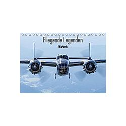 Fliegende Legenden - Warbirds (Tischkalender 2021 DIN A5 quer) - Kalender
