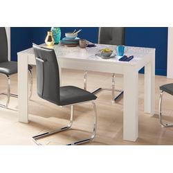 LC Esstisch Miro, Breite 180 cm mit oder ohne Ansteckplatten weiß