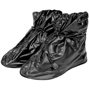PERLETTI Wasserdichte Schuhüberzieher aus PVC - stabil und wiederverwendbar - mit rutschfester und verstärkter Sohle - Galoschen für Regen, Schnee und Matsch - Überschuhe - Klein (S (36-39), Schwarz)