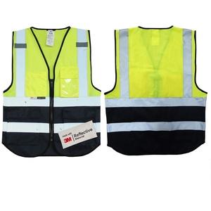Salzmann Warnweste, 3 m, Warnweste, für Handy, Ausweis, Tasche, Warnweste, reflektierendes Band, Gelb / Marineblau