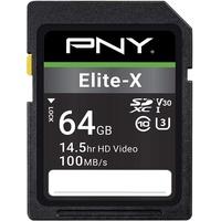 PNY SDXC Elite-x 64GB Class 10 UHS-I U3