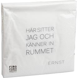 Ernst Kirchsteiger Serviette 'Tid/Rum' Weiß