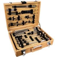 Brüder Mannesmann Werkzeuge Bambus-Werkzeugkoffer, bestückt, 108-tlg.