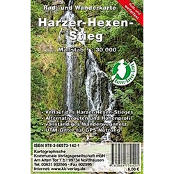 KKV Rad- und Wanderkarte Harzer-Hexen-Stieg - Buch