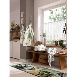 Kracht Geschirrtücher grün 2 50x70 cm, 4 Halbleinen-Geschirrtücher