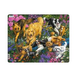 Larsen Puzzle Rahmen-Puzzle, 32 Teile, 36x28 cm, Hunde, Puzzleteile