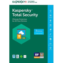 Kaspersky Lab Total Security 2018 5 Geräte 2 Jahre ESD DE Win Mac Android