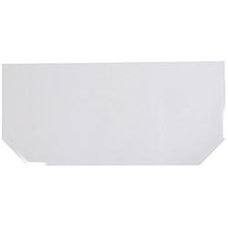 Glasvorlegeplatte sechseckig, 1200 x 550 mm, 55628656-0 farblos 120 cm x 55 cm farblos