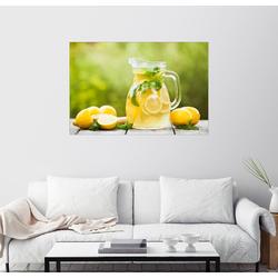 Posterlounge Wandbild, Limonade im Krug und Zitronen mit Minze 91 cm x 61 cm