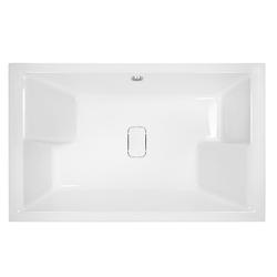 HAK Badewanne DUETT Doppel-Badewanne mit Füßen, (1-tlg), 180x120x46 cm, mit Designabdeckung