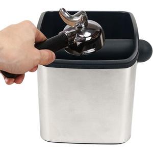 Grindenstein Abklopfbehälter für Kaffeesatz Kompatibel mit Sage,Espresso Edelstahl Abschlagbehälter für Siebträger,Coffee Knockbox,Kaffeesatz Abschlagbehälter,Edelstahl AbklopfbehälterEspressomaschine