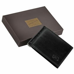 The Bridge Story Uomo Dollarclip Leder 10,5 cm nero-nero