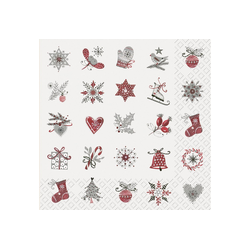 stewo Papierserviette Winter Motive, (5 St), 33 cm x 33 cm