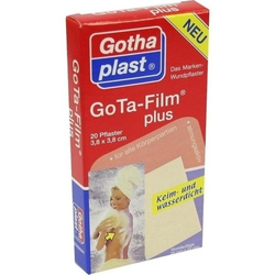 GOTA FILM plus 3,8x3,8 cm Pflaster 20 St