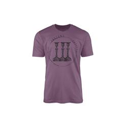 Sinus Art T-Shirt Vintage Herren T-Shirt Kerzenständer lila XL