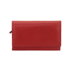 Lady Geldbörse aus hochwertigem Nappaleder rot