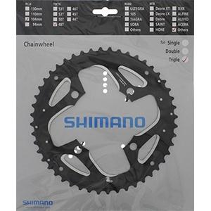 SHIMANO Unisex – Erwachsene Trekking FC-T551 Fahrradkettenblatt, Schwarz, 104 mm