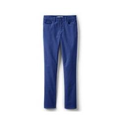Straight Fit Cordhose Mid Waist, Damen, Größe: 42 32 Normal, Blau, by Lands' End, Lapislazuli Blau - 42 32 - Lapislazuli Blau