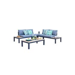 HTI-Line Sitzgruppe Terrassenmöbel Malaga, (2x Zweisitzer, 2x Tisch, 4-tlg), Terrassenmöbel