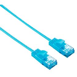 Hama Hama CAT 6 Patch-Kabel Netzwerk-Kabel DSL LAN Ethernet RJ-45 Dünn Flach-Kabel Blau LAN-Kabel, RJ-45 (Ethernet), RJ-45 (Ethernet) (150 cm)