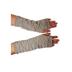 Posh Gear Armstulpen Alpaka Handstulpen 100% Alpakawolle silberfarben