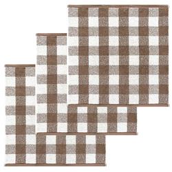 Lashuma Handtuch Set (Set, 3-tlg), Küchentücher Frottee, Geschirrtücher 50x50 cm braun