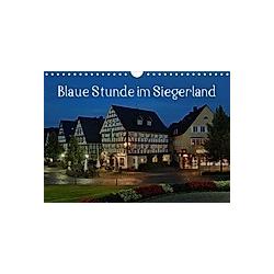 Blaue Stunde im Siegerland (Wandkalender 2021 DIN A4 quer)