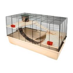 Hamsterkäfig Gabbia 102, beige, L100 x B53 x H55 cm