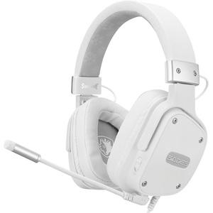 Sades Snowwolf SA-722S Gaming-Headset (Mikrofon abnehmbar, Kompatibel mit PS4, PS5, Xbox One, Xbox Series X/S und Nintendo Switch) weiß