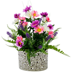 Kunstpflanze Margeriten/Lavendel, I.GE.A., Höhe 32 cm