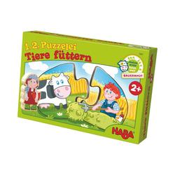 Haba Puzzle 1, 2, Puzzelei - Tiere füttern, Puzzleteile